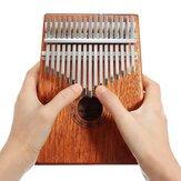 Depolama Çanta 17 Tuşları Maun Kalimbas Başparmak Piyano Parmak Perküsyon