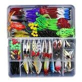 ZANLURE 141 adet / takım Balıkçılık Lure Kit Kancalar Kutu Ile Crankbait Plastik Worms Jigs Yapay Yemler