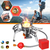 Automatic Gas Stove Windproof Cooking Stove Piezo Ignition Camping Stove Gas Burner Outdoor Travel Picnic