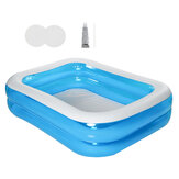 Piscine gonflable portative pour enfants Piscines en plein air Fun Water Play Blue Kids Baby Swimming Supply
