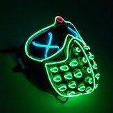 Led Rave Masks متوهجة حزب EL قناع هالوين تأثيري الدعائم قناع الرجال هدية