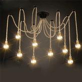 E27 12 głów żyrandole przemysłowe Lampy wiszące Oprawa sufitowa z wisiorkami
