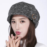 Womens Leisure Earmuffs Double Layers Flat Hat