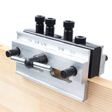 Woodworking Self Centering Doweling Jig Aluminum Alloy Dowel Drill Guide