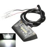 12V 3 LED Numer licencji Tylna płyta światło dla motocykla Quad Bike E-oznaczone