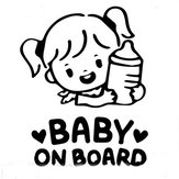 Baby On Board Warning Letter Refective Car Stickers Decals Vehicle Truck Window Mirror Decoration