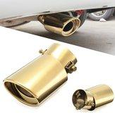 Universal 63mm Inlet Exhaust Muffler Tip Silencer Auto Gold Stainless Steel