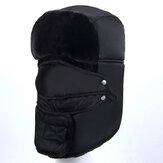 Hiver chaud casquette coupe-vent hommes femmes Cool cagoule cou Protection masque facial imperméable capuche chapeau pour cyclisme voyage