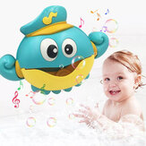 Music Bubble Machine Maker Bath Octopus Toys for Infant Baby Kids Happy Tub Time Shower Games