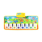 Musical Kid Piano Baby Crawl Mat Animal Educational Music Soft Kick Toy 5 Modes