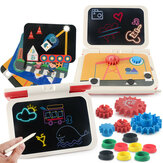 2-in-1 DIY LCD Drawing Board Multi-function Plug-in tablet Hand Writing Board 270 Degrees Foldable Children's Toy