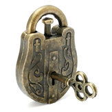Metal Cast God Lock Puzzle Retro Vintage Lock IQ & EQ Mind Brain Teaser Souptoys Gift