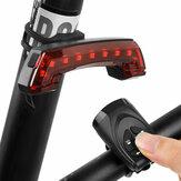 Lanterna traseira recarregável com buzina traseira de bicicleta com controle inteligente sem fio lâmpada