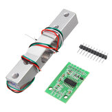 HX711 24bit AD Modulo + 1kg Scala in Lega di Alluminio Sensore di Pesatura Kit Cella di Carico per Arduino