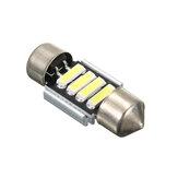 12V 31mm 7020 4SMD LED Boat Car Interior Dome Light Bulb White 6000K-6500K Universal