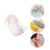 3mm Round Shape White Mask Ear Strap Elastic Band Cover Rope untuk Face Decoration