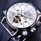 JARAGAR GMT960 Calendar Automatic Mechanical Watches Rubber Band Men Wrist Watch