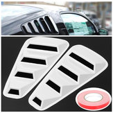 Paar Wit Side window Louvers Scoop Cover Vent Voor Ford Mustang 2005-2014