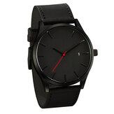 Casual Fashion Big Dial with Calendar Matte PU Leather Strap Men Wristwatch Quartz Watch
