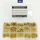 Suleve MXBN11 420 Pcs M2 M3 M4 M5 Metrik Female Thread Kuningan Knurled Nut Threaded Insert Embedment Nuts Assortment Kit