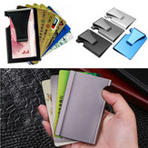 Outdoor Travel Anti-theft Metal Slim Credit Card Holder RFID Blocking Wallet Money Clip Purse