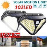 102 LED Movimento infravermelho solar Sensor Luz de parede Luz de jardim ao ar livre à prova d'água