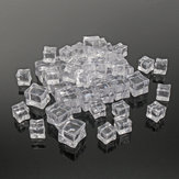50Pcs Crystal Clear Artificial Acrylic Ice Cube Square Decor Photo Photography Props Decorations