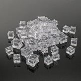 50 Sztuk Crystal Clear Sztuczny akryl Ice Cube Square Decor Fotografia Fotografia Rekwizyty dekoracje