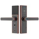 Huella digital Contraseña inteligente cerradura Puerta de madera Hotel Bluetooth cerradura Control de acceso Oficina inteligente cerradura