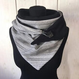 Kobiety Plus Gruby, utrzymujący się w cieple, zimowy, na co dzień, w paski wzór wielofunkcyjny szalik