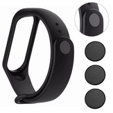 3pcs Wacth Clasp Black Metal Button in Watch Strap for Xiaomi Mi Band3 Non-original