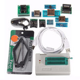 TL866II USB Mini Pro Programmer With 10pcs Adapter EEPROM FLASH 8051 AVR MCU SPI ICSP
