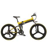 [EU DIRETO] LANKELEISI XT750 26 polegadas 10,4Ah 400 W 30Km / h Velocidade máxima 100Km Alcance Milhagem Bicicleta elétrica Bicicleta 200Kg Carga máxima Plug UE