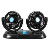 12 V Regolabile a 360 gradi Mini ventilatore oscillante Ventilazione Ventola di raffreddamento