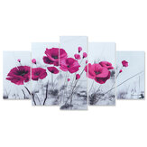 5pcs Canvas Flower Painting Wall Hanging Pictures Home Living Room Office Ornament Creative Gifts for Friends