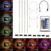 4pcs 50cm 5050 USB Alimentado RGB Cor Alterar LED Strip Computador USB TV Retroiluminação Luz DC5V