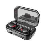 Bakeey M15ワイヤレスBluetooth TWSステレオイヤフォンLEDデジタルディスプレイタッチコントロールイヤースポーツヘッドフォンパワーバンク付き