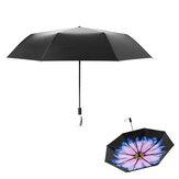 Beneunderミニ折りたたみサン&レイン傘UPF 50+ LRCビニール99%UV保護二重層386g印刷傘
