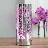 Aroma Lamp LED Tree Cylinder Electric لمس الشمع يذوب الزيت الموقد متغير اللون