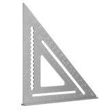 Ferramenta de carpintaria para carpinteiro em liga de alumínio de 7/12 '' ângulo quadrado triângulo régua telhados