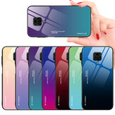 Bakeey for Xiaomi Redmi Note 9S / Redmi Note 9 Pro / Redmi Note 9 Pro Max Case Gradient Color Tempered Glass Shockproof Scratch Resistant Protective Case Non-original