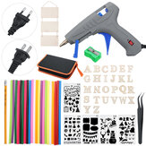 57Pcs 30W Cordless Electric Hot Glue Guns DIY Art Craft Glue Guns with Adhesive Melt Glue Sticks