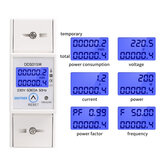 SINOTIMER DDS015M 5-80A 230V Reset and Reset Backlight Display Single-phase Household Rail Multi-function Energy Meter