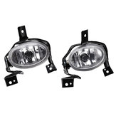 Pair 55W Car Front Bumper Fog Lights with Halogen Lamps Yellow for Honda CR-V 2010-2011