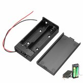 18650 batteriboks genopladeligt batteri holder bord med switch til 2x18650 batterier DIY kit sag