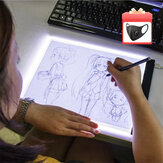 A3 / A4/A5 USB regulable LED Tablero de copia de dibujo Tablero Tablero de pintura de diamante Tablero de copia de arte Escritura Trazado de bocetos luz LED Pad