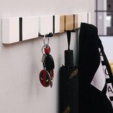 Wooded Hanger Removable Adjustable Clothes Rack Wall Door Hanging Clothes Hooks