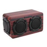 Kingneed S403 بلوتوث Wireless Wooden 2 Speaker 2 Bass Membrane 2x3W Speaker