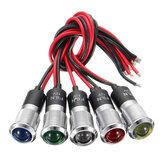 12V 14mm Dual Color LED Dashboard Pilot Panel Indicator Warning Light