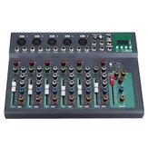 7-kanałowy kontroler miksera audio Bluetooth Mikrofon DJ z cyfrowym wyświetlaczem Strumień muzyki